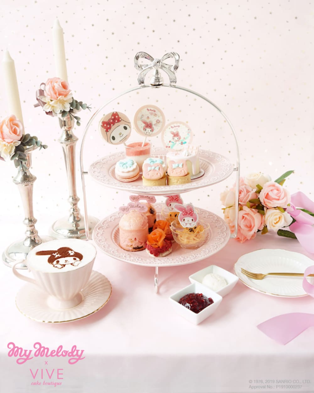 My Melody x VIVE Cake Boutique Hong Kong afternoon tea