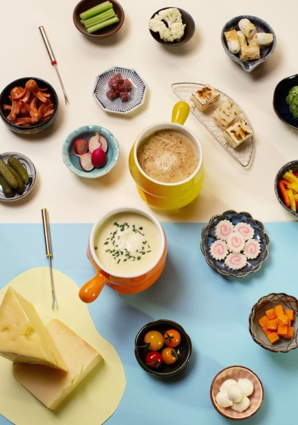 Japanese cheese fondue afternoon tea buffet at Eaton HK's The Astor
