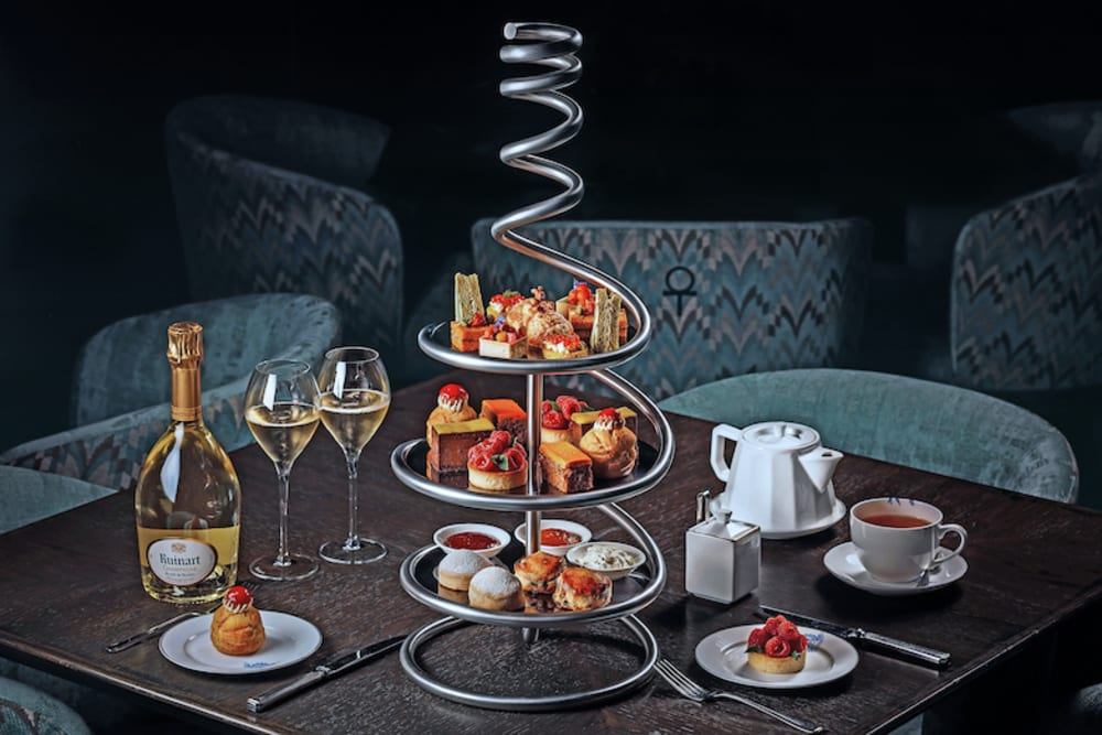 Ruinart afternoon tea at Statement Hong Kong