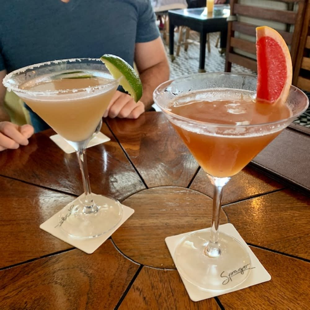 Dragons Fire and Hemingway Daiquiri at Spago Singapore