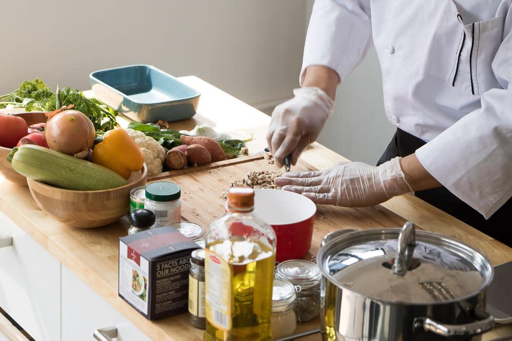 Prepping GAFELL frozen meals