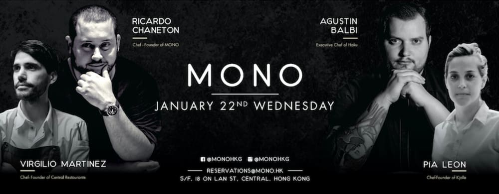 8-hands South American collaboration at MONO Hong Kong