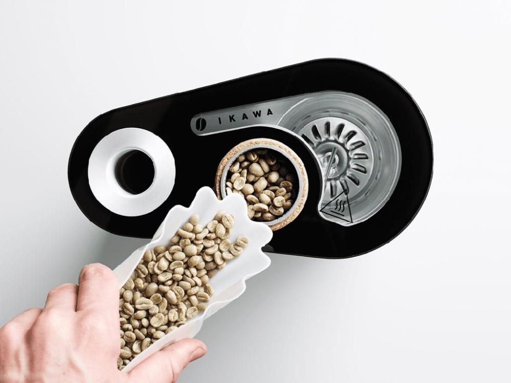 Sample coffee roasting