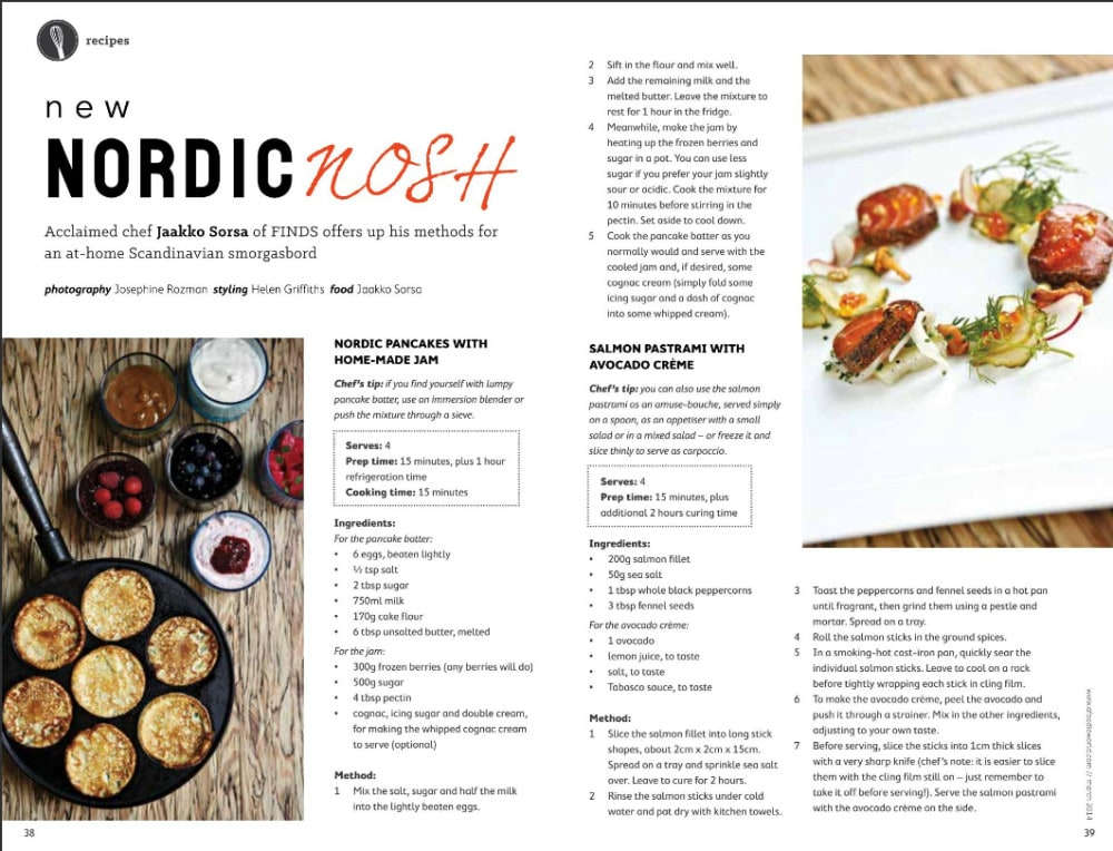 Chaf Jaakko Sorsa's Nordic recipes