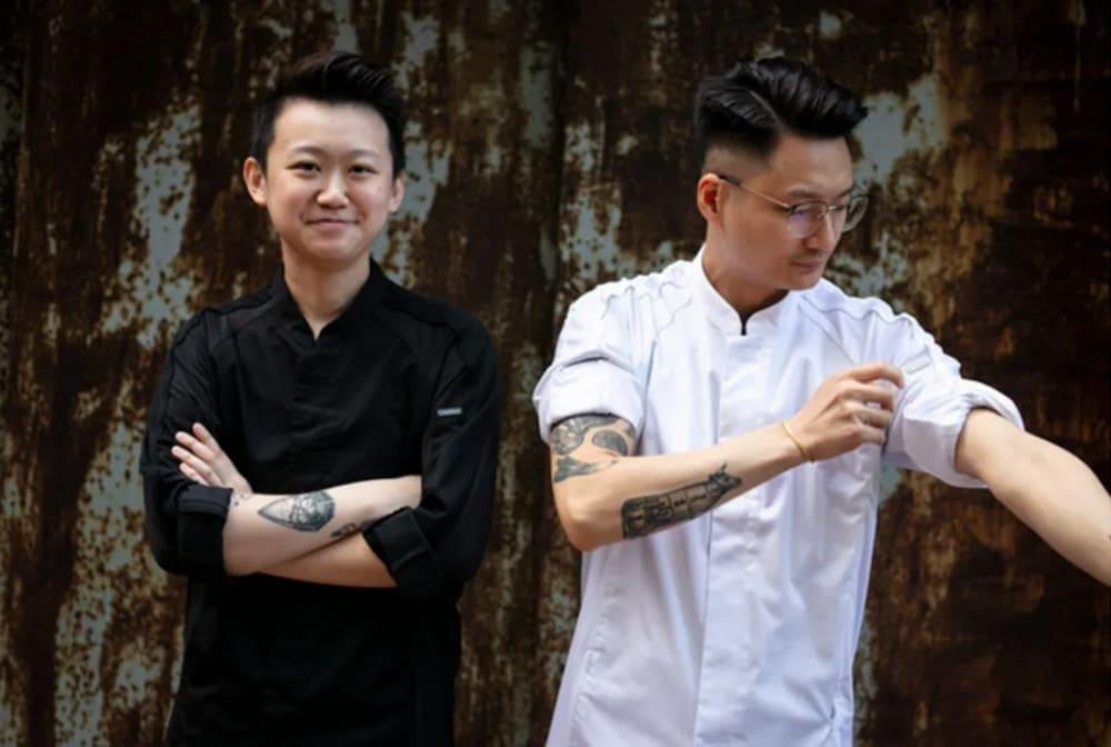 Chefs Ray Choi and Devon Hou