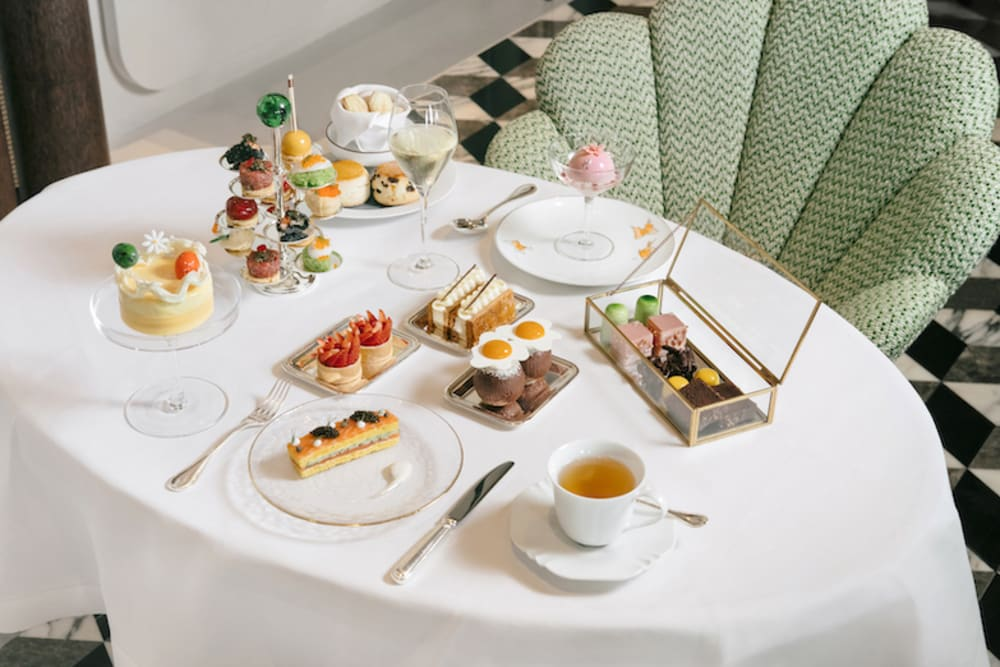 Easter-themed afternoon tea at The Butterfly Room, Rosewood Hong Kong