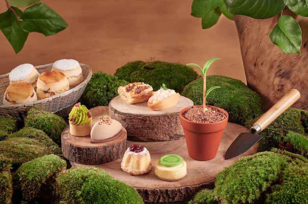 Forest-inspired afternoon tea at Mandarin Oriental, Hong Kong