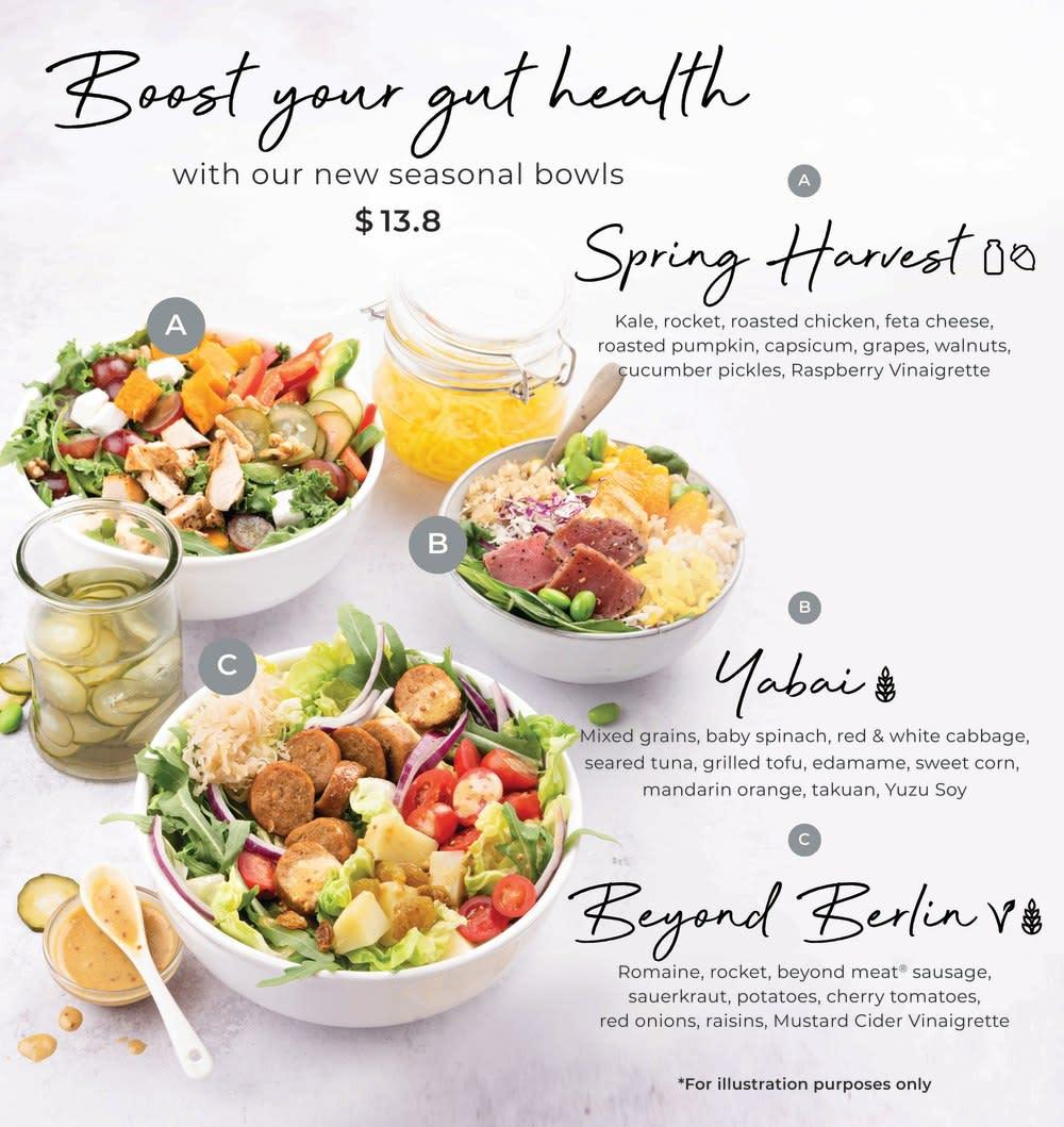 SaladStop!'s gut health bowls