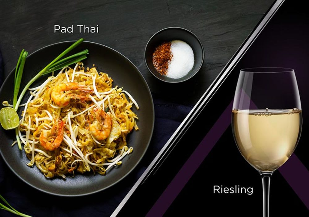 Pad thai with Riesling