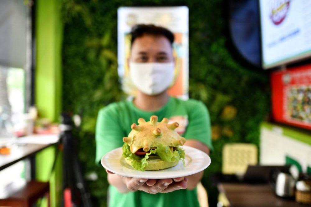 Coronavirus-themed burger