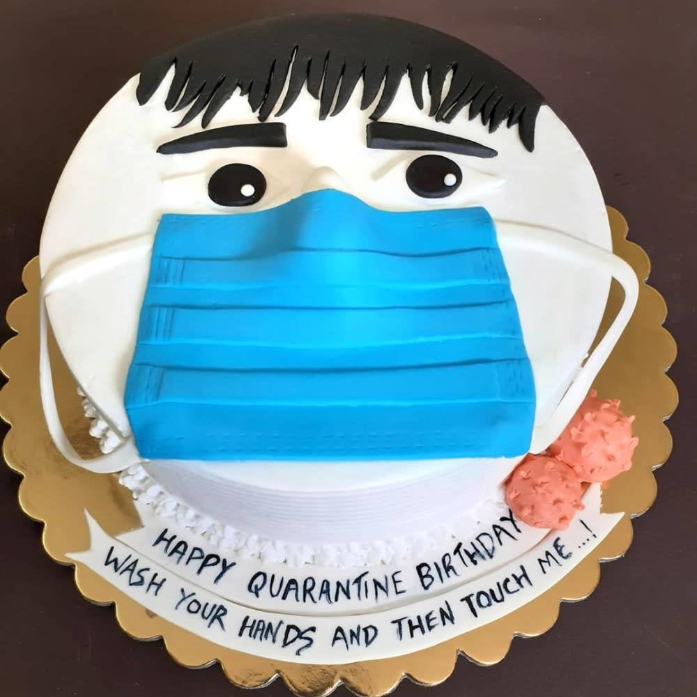 Face mask cake