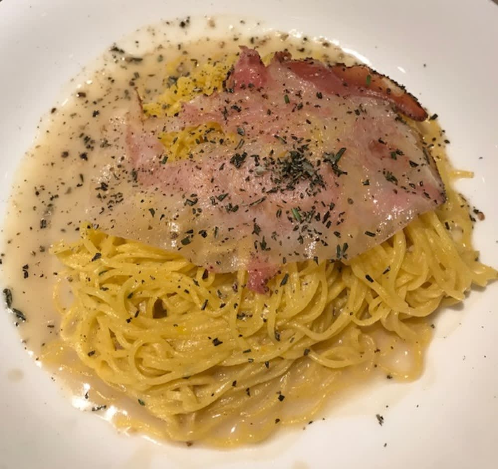 Tagliolini with Pork Jowl and Anchovy