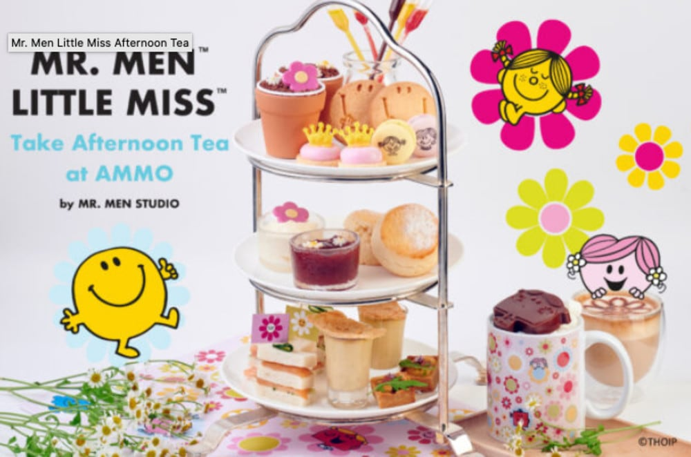 Mr Men Studio x AMMO Hong Kong afternoon tea