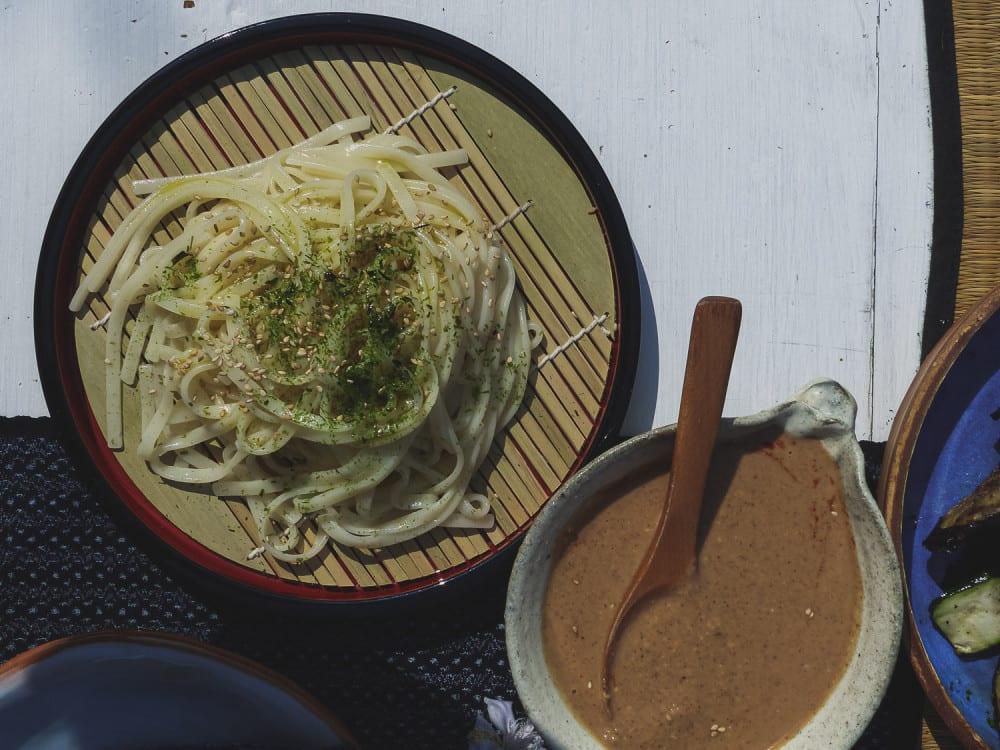 Sesame almond udon