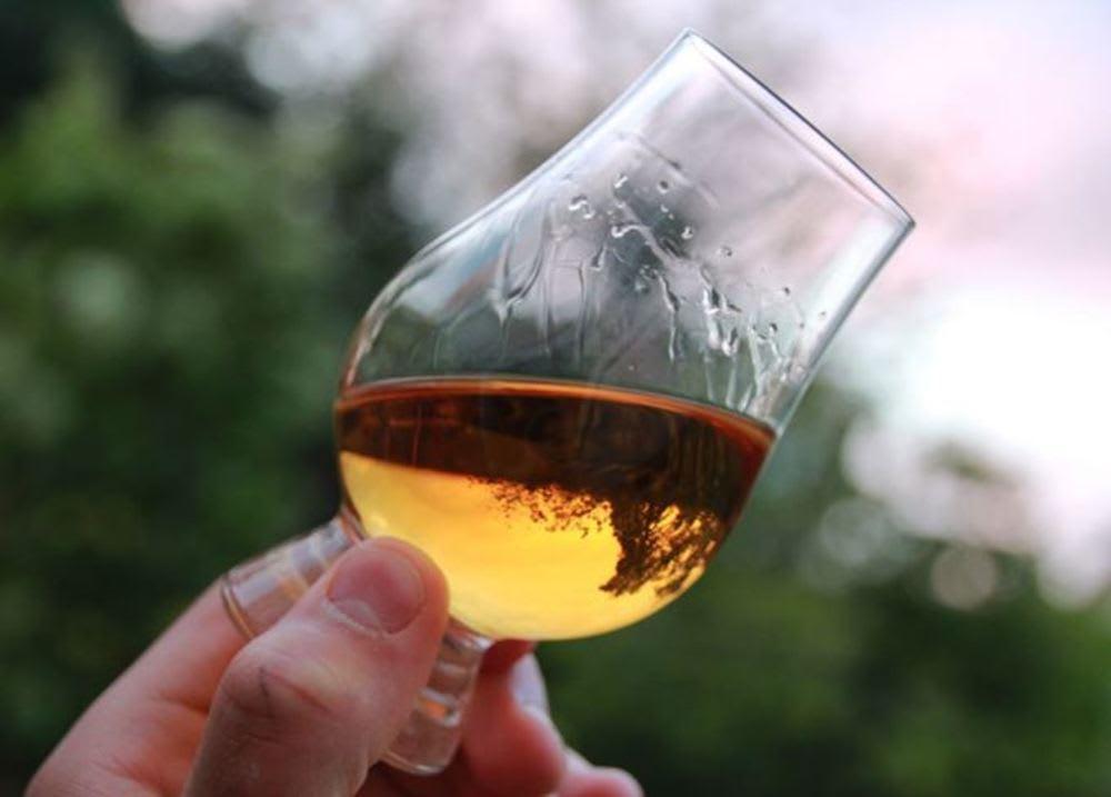 Swirling a wine glass