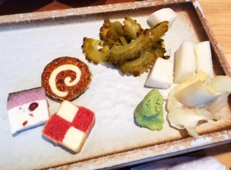 Delicate Japanese sweets and homemade pickles