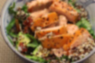 Tri-Colour Quinoa and Smoked Salmon Salad – an Omega-3 Super Booster