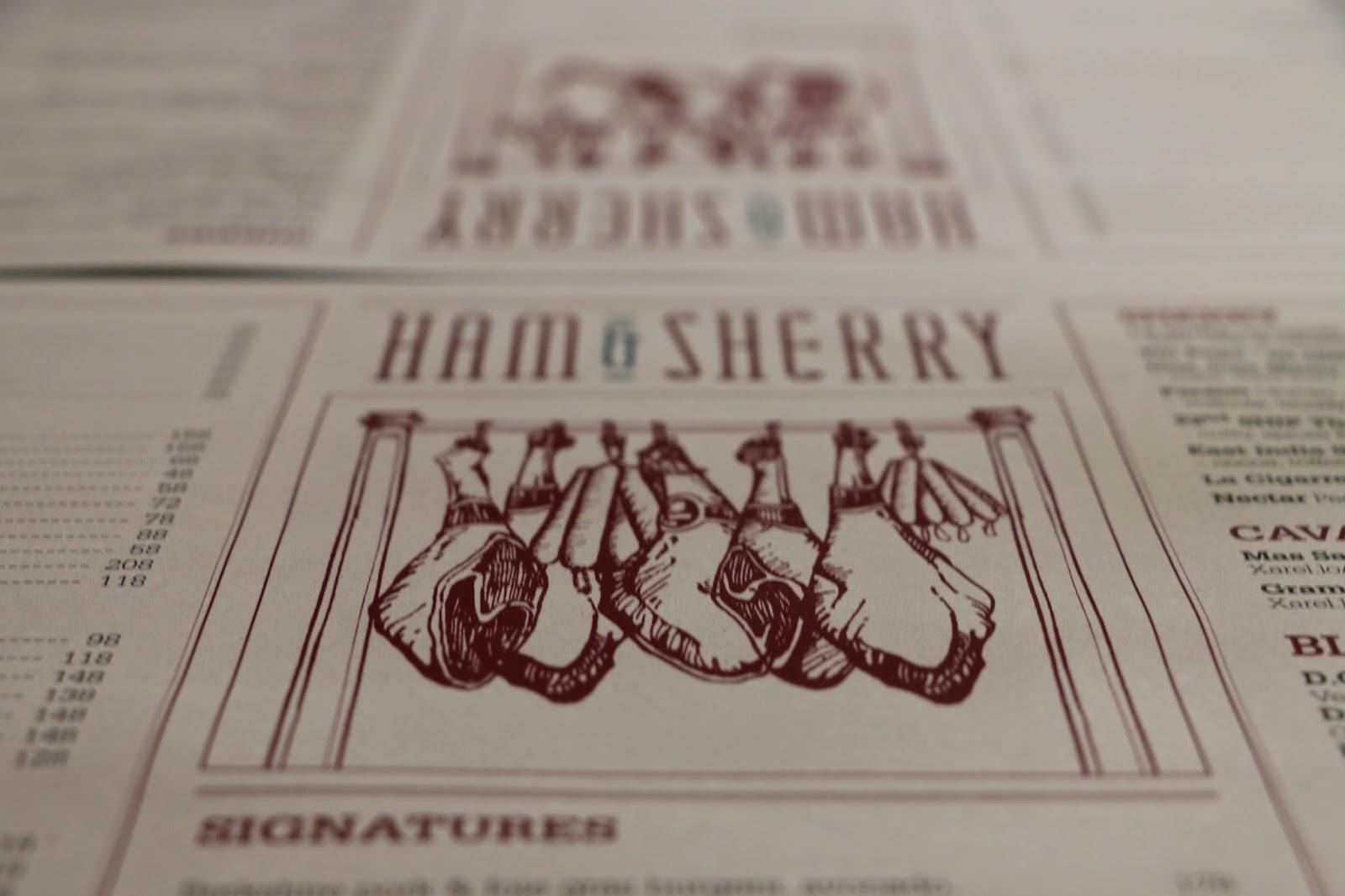 Ham&Sherry, 西班牙, tapas, ship street, menu