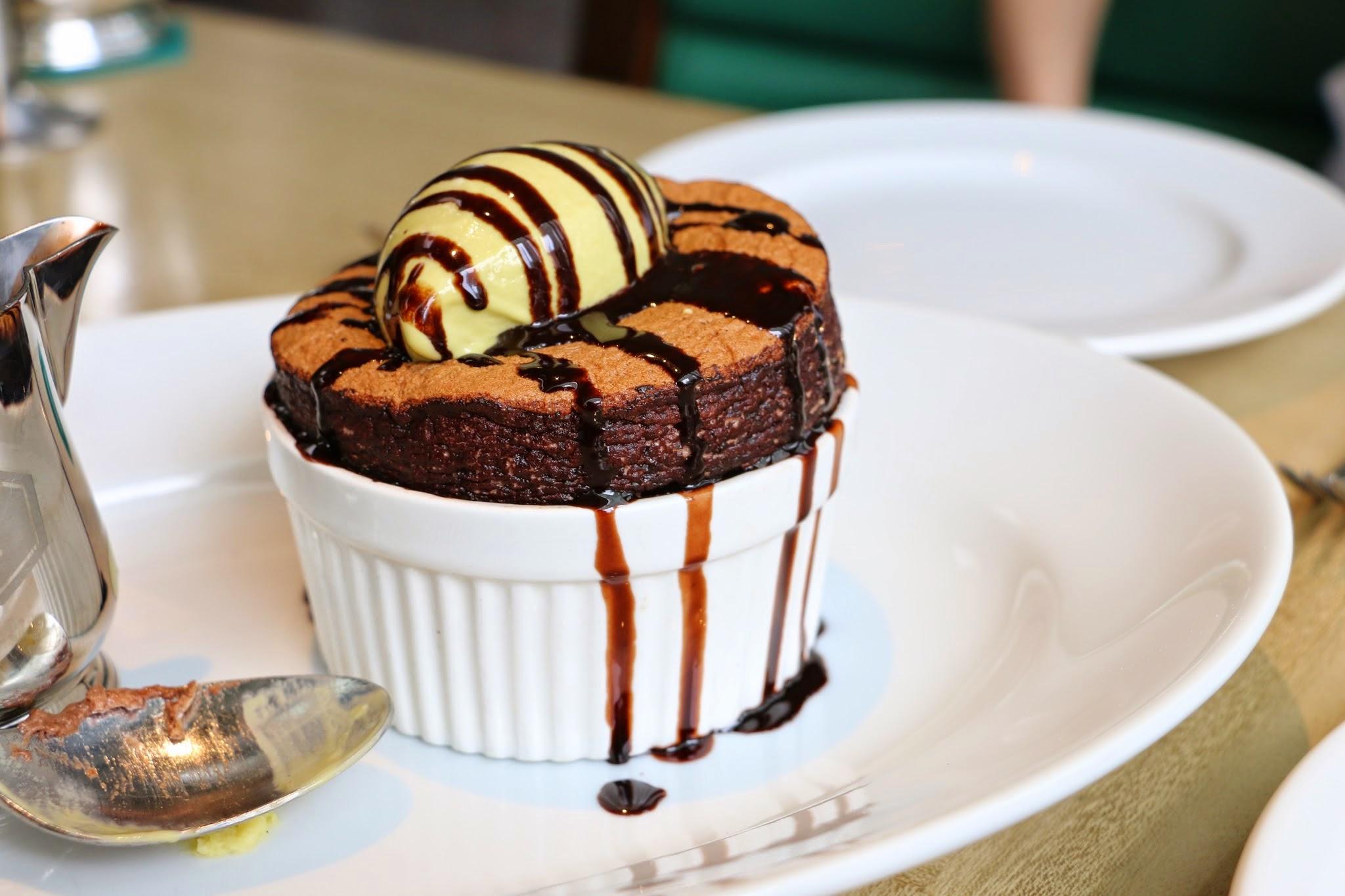 The Continental Chocolate Pistachio Souffle