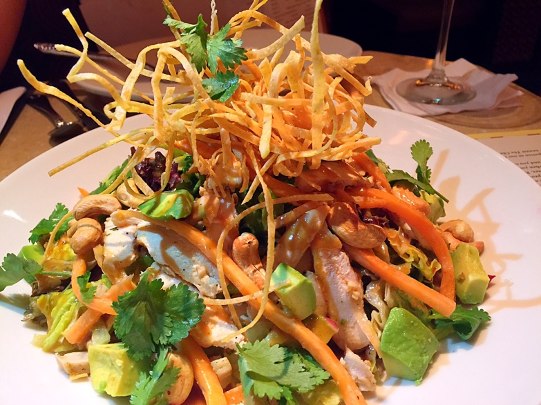 Sheila's chicken and avocado salad at Cheesecake Factory HK