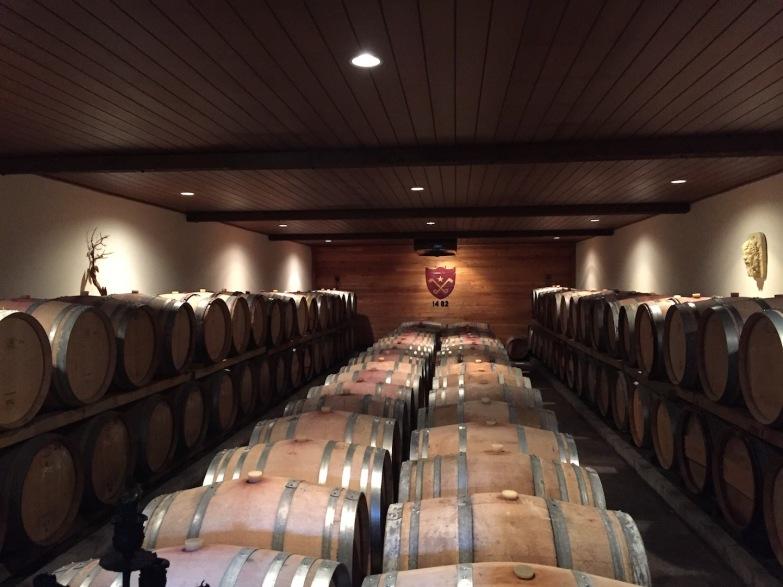 Cloudy Bay barrel room