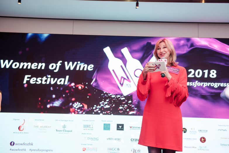 Debra Meiburg at WoW Festival (courtesy Meiburg Wine Media)