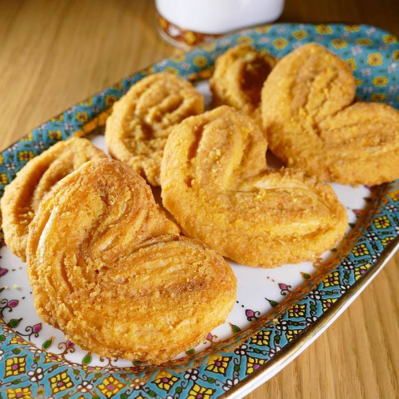 Salted egg yolk palmiers from Meltlyplace