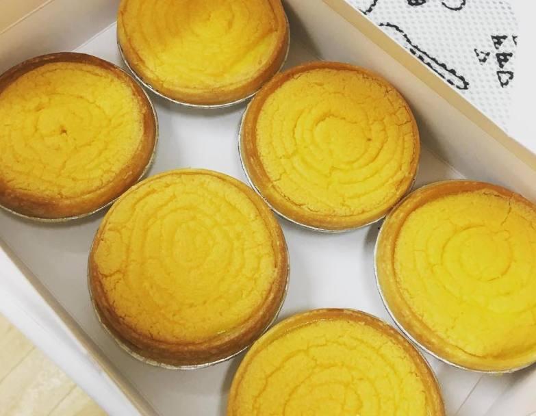 Salted egg yolk egg tarts from King Bakery