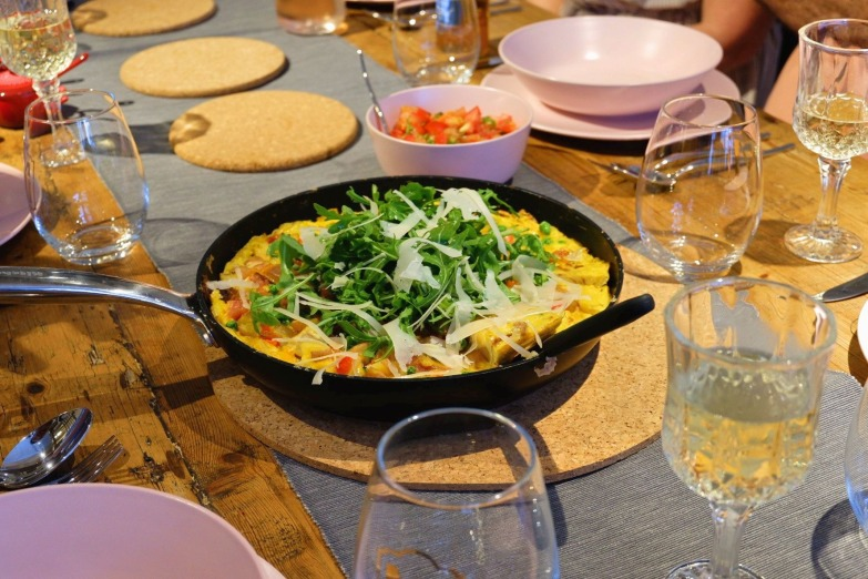 Bacon Omelette with Salsa and Rocket