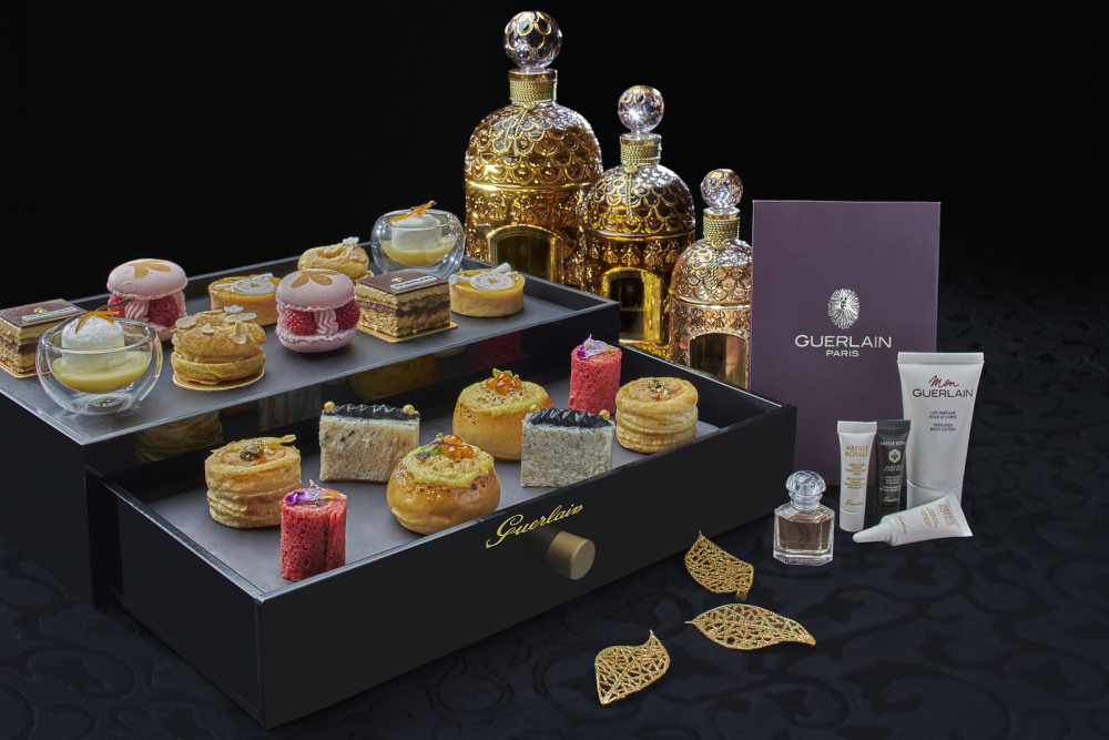 Guerlain's afternoon tea set
