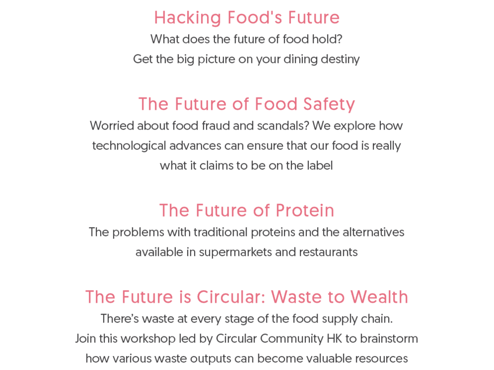 Food's Future Summit Day 2 Morning Agenda