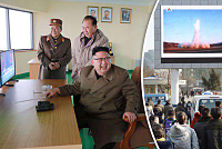 North Korea launches near-missile...