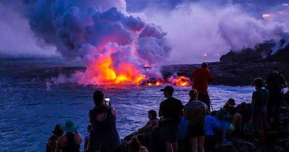 Active volcano on the Big Island