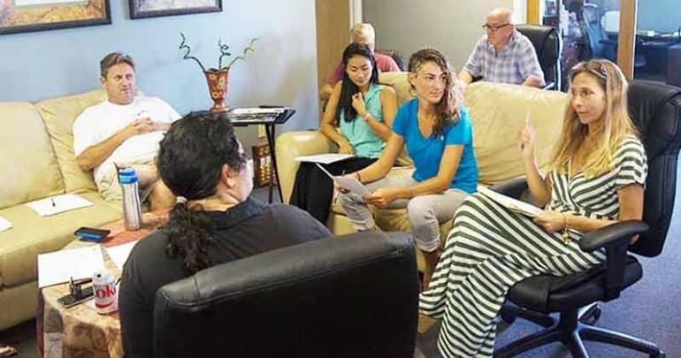 Therapist Zahava Zaidoff teaching non-violent Communication