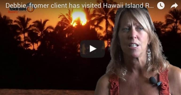 Debbie former client visits Hawaii Island Recovery