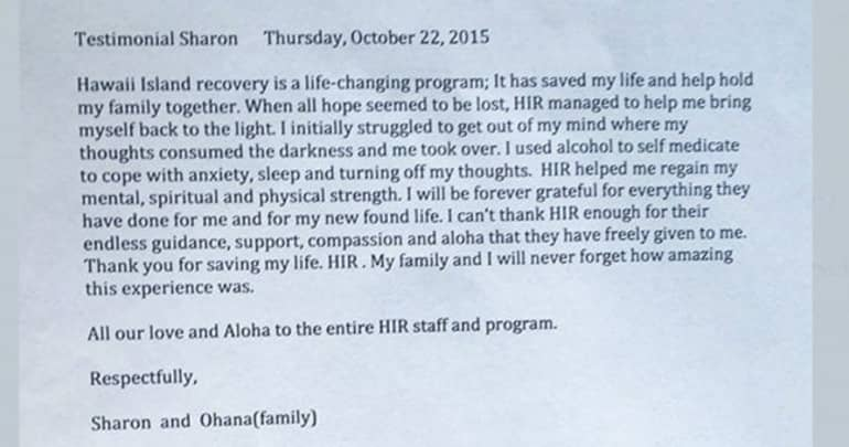 Hawaii Island Recovery is a life changing program