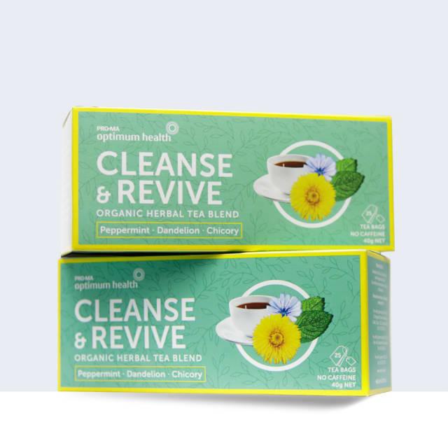OptiW8 Cleanse & Revive Organic Herbal Tea Blend