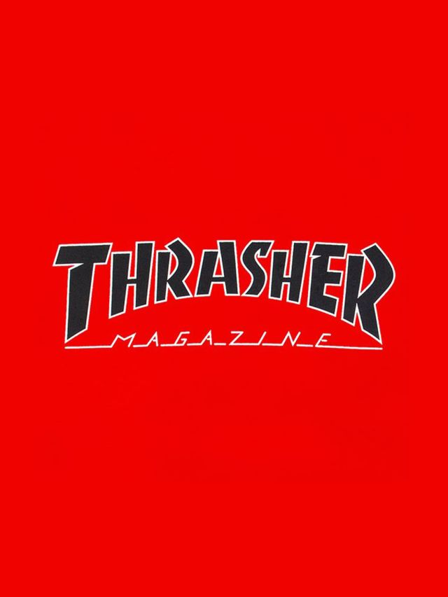 0aafc245f509 THRASHER Outlines T-Shirts-Red | His.in.th