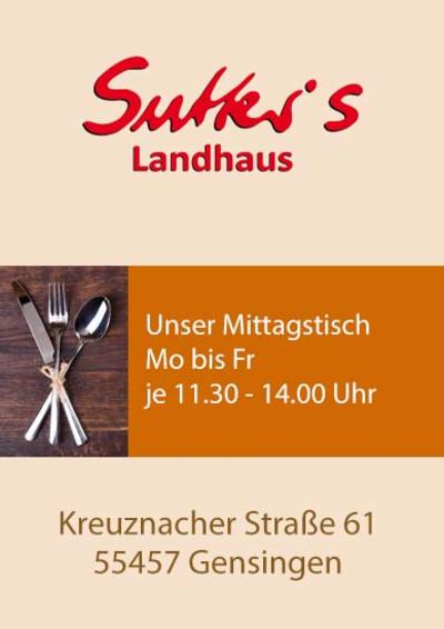 Sutter´s Landhaus Gensingen