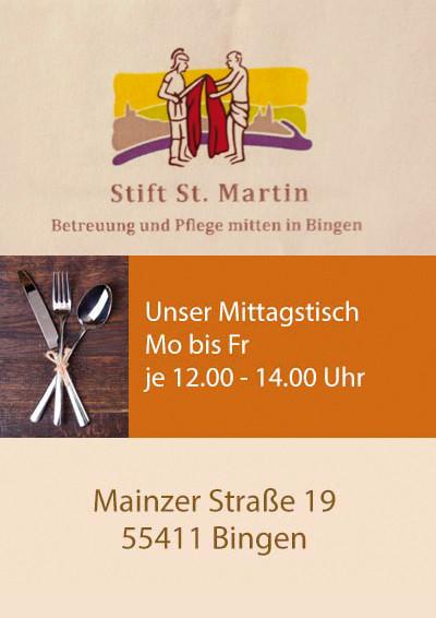 """""""Treff im Stift"""" - Offener Mittagstisch im Seniorenzentrum Stift St. Martin"""