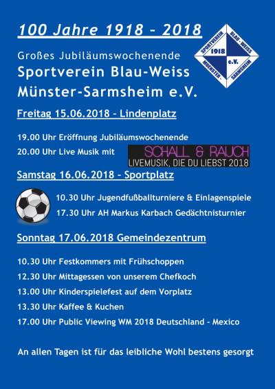 100 Jahre SV BW Münster-Sarmsheim e.V.