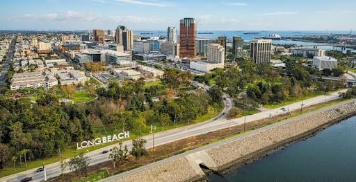 Long Beach city skyline