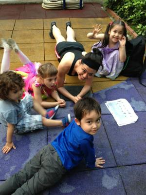 Plank with the kids
