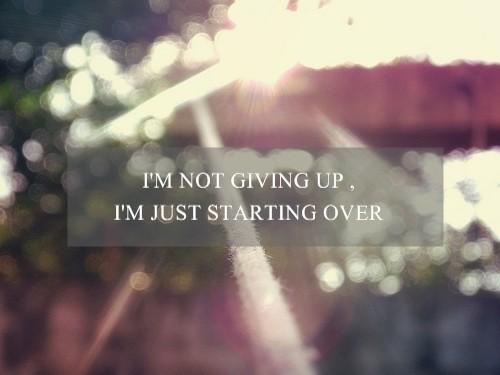 Start over 01