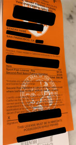 California Fishing License