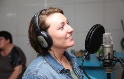 Sjov polterabend indspilning i Egtved-studiet
