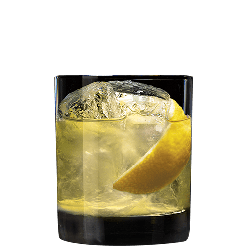 Whiskey Sling Cocktail served with lemon peel
