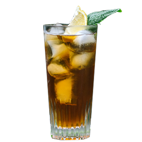 Sweet Tea Smash Cocktail served with mint and lemon wedge