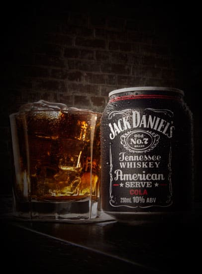 Jack Daniel's American Serve Cola 250ml Can