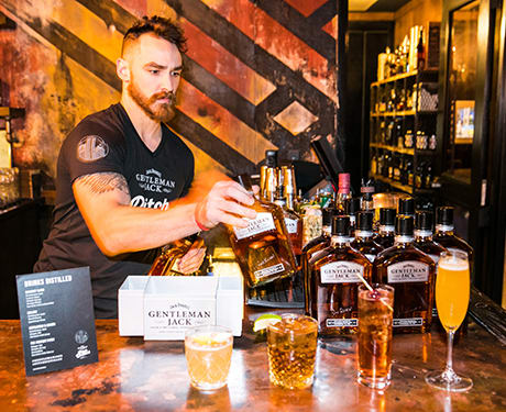 Pitch distilled Detroit partygoers​ ​enjoyed​ ​a​ ​variety​ ​of​ ​Gentleman​ ​Jack​ ​custom​ ​cocktails.